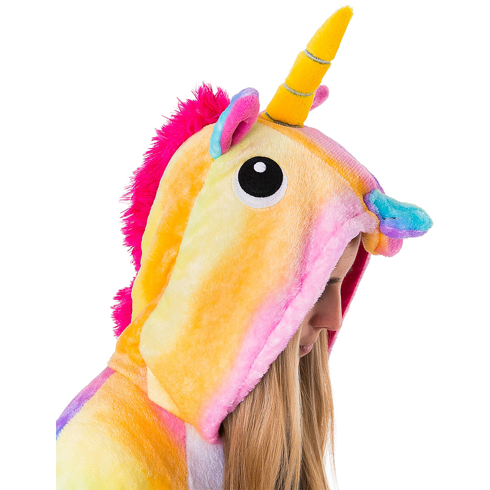 Adult Zipster Rainbow Unicorn One Piece Costume Image #5