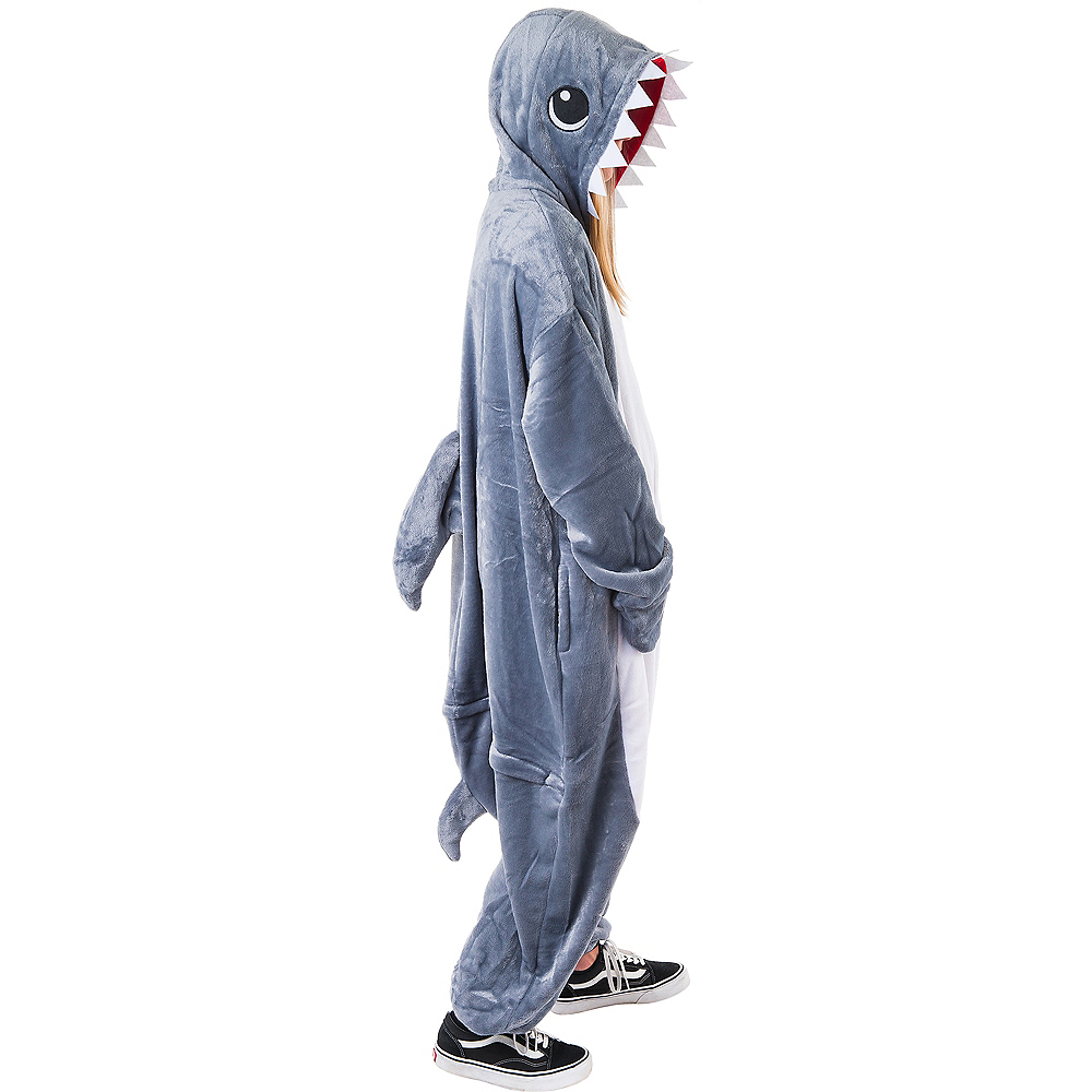 Adult Zipster Shark One Piece Costume Image #2