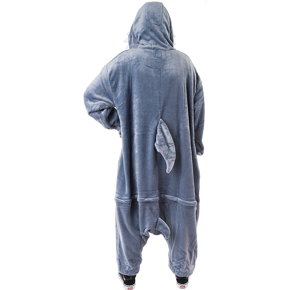 Adult Zipster Shark One Piece Costume Image #3