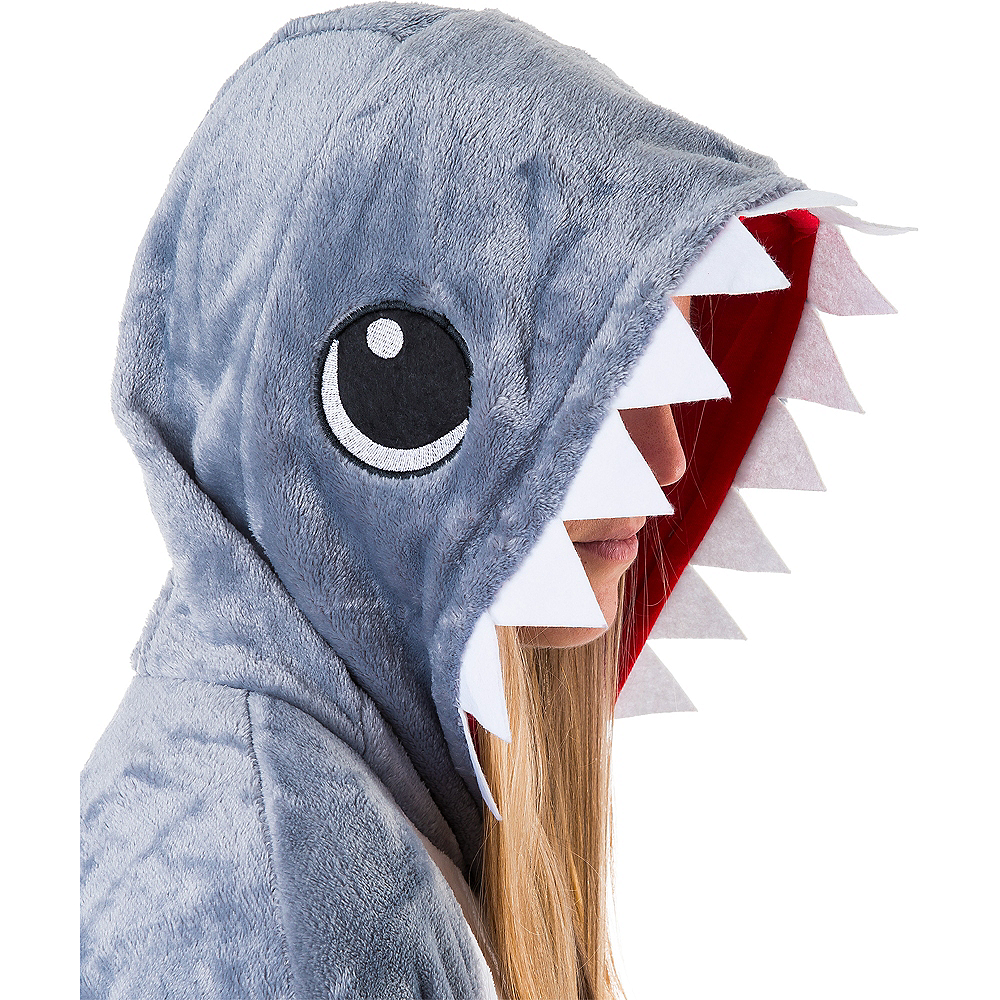Adult Zipster Shark One Piece Costume Image #4