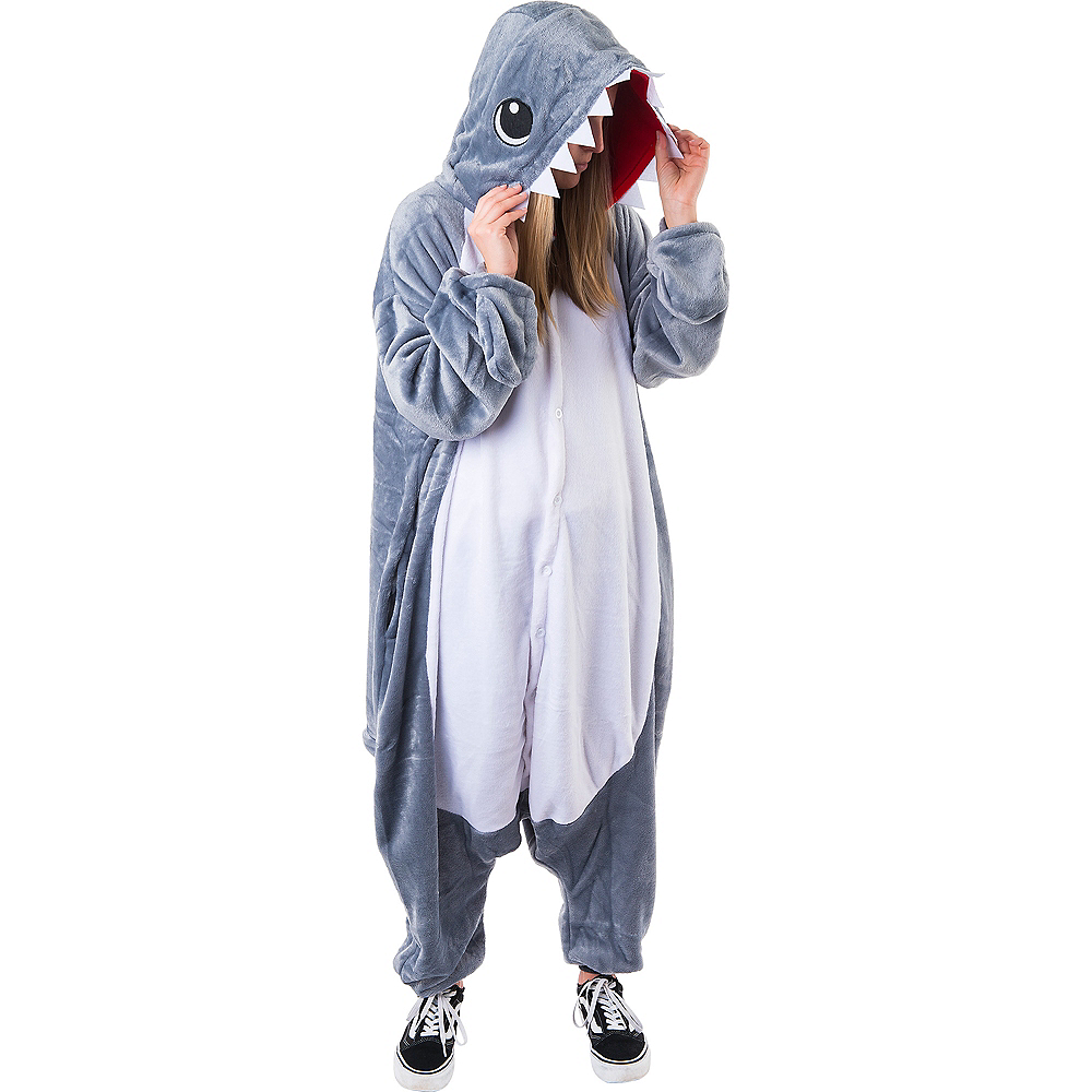 Adult Zipster Shark One Piece Costume Image #5