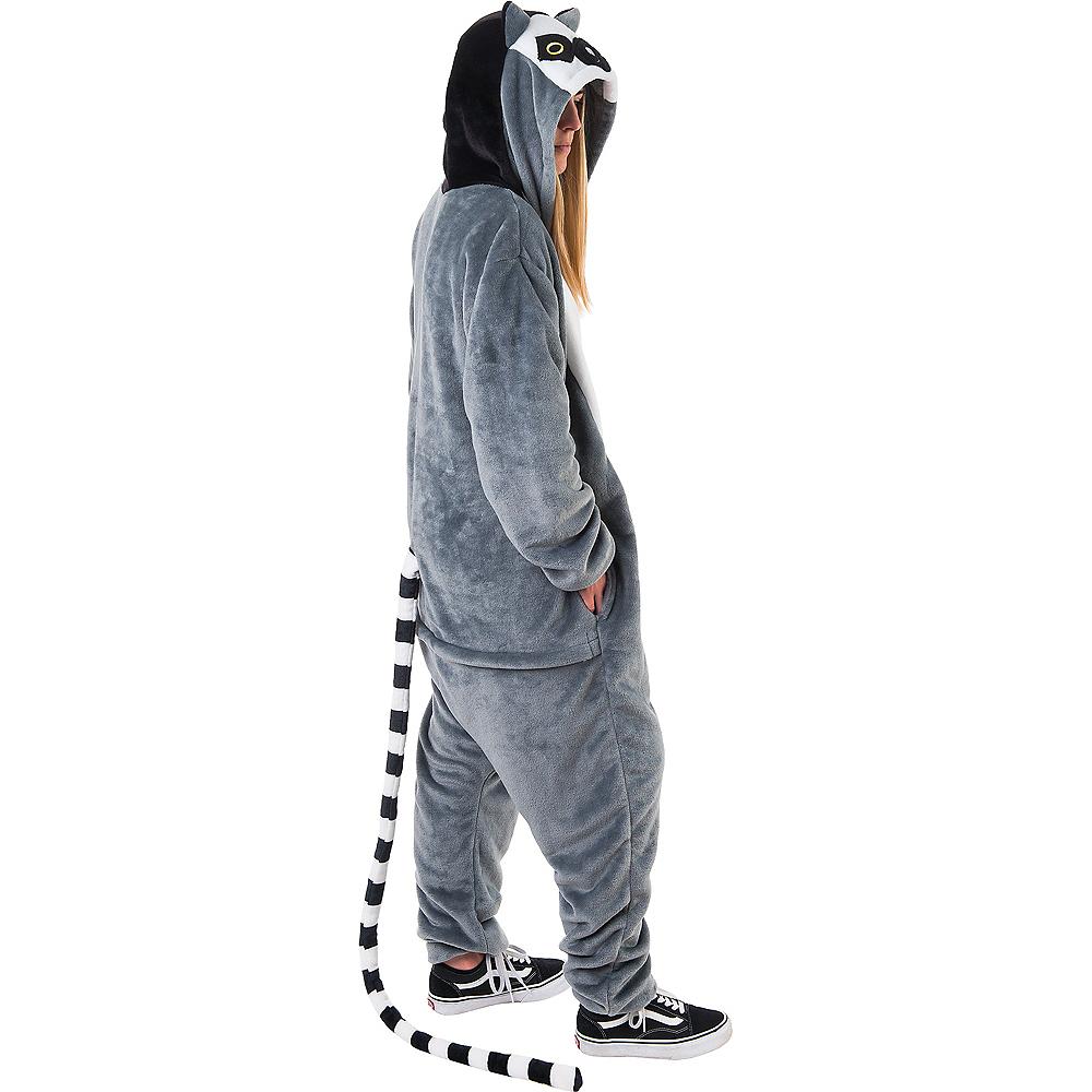 Adult Zipster Lemur One Piece Costume Image #2
