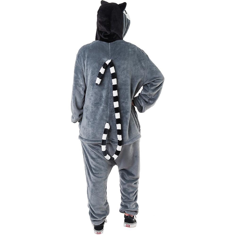 Adult Zipster Lemur One Piece Costume Image #3