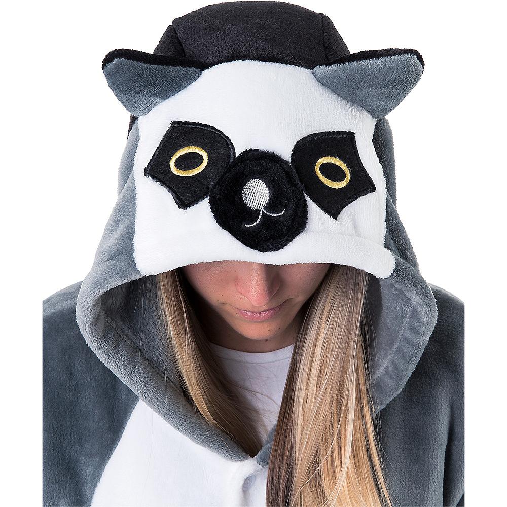 Adult Zipster Lemur One Piece Costume Image #4