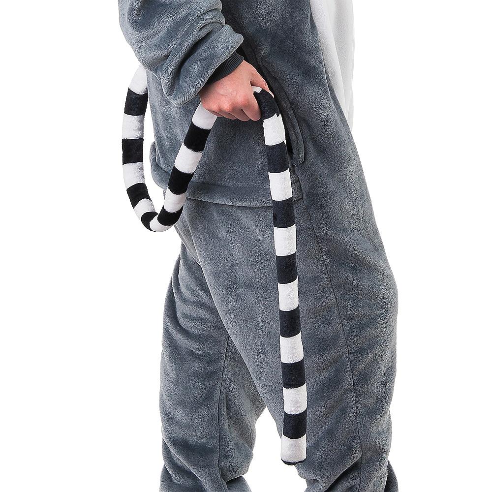 Adult Zipster Lemur One Piece Costume Image #5