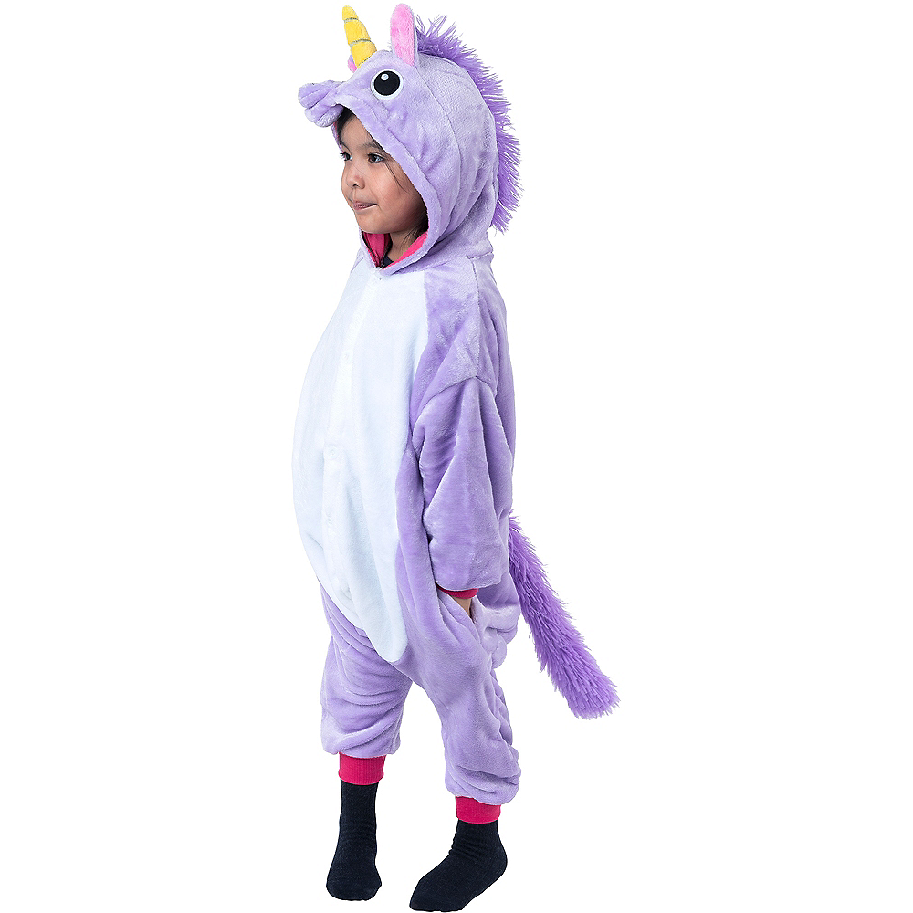 Child Zipster Purple Unicorn One Piece Costume Image #1