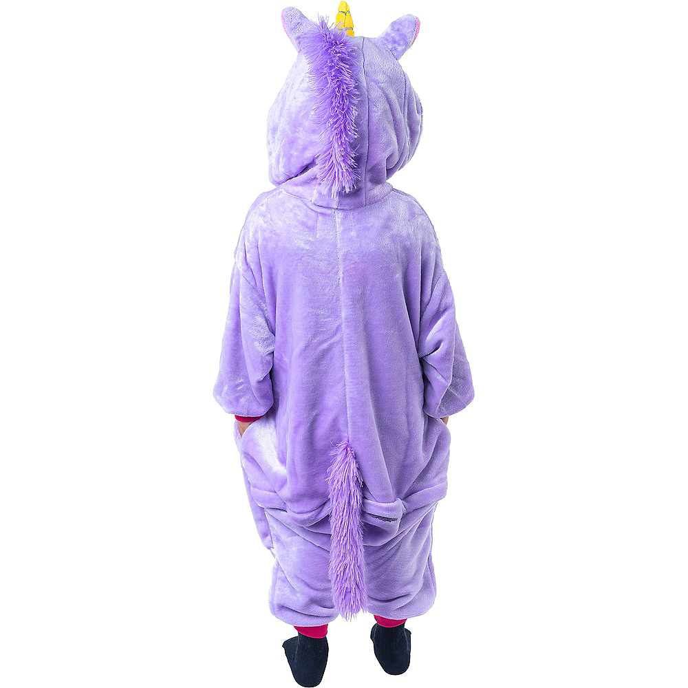 Child Zipster Purple Unicorn One Piece Costume Image #3