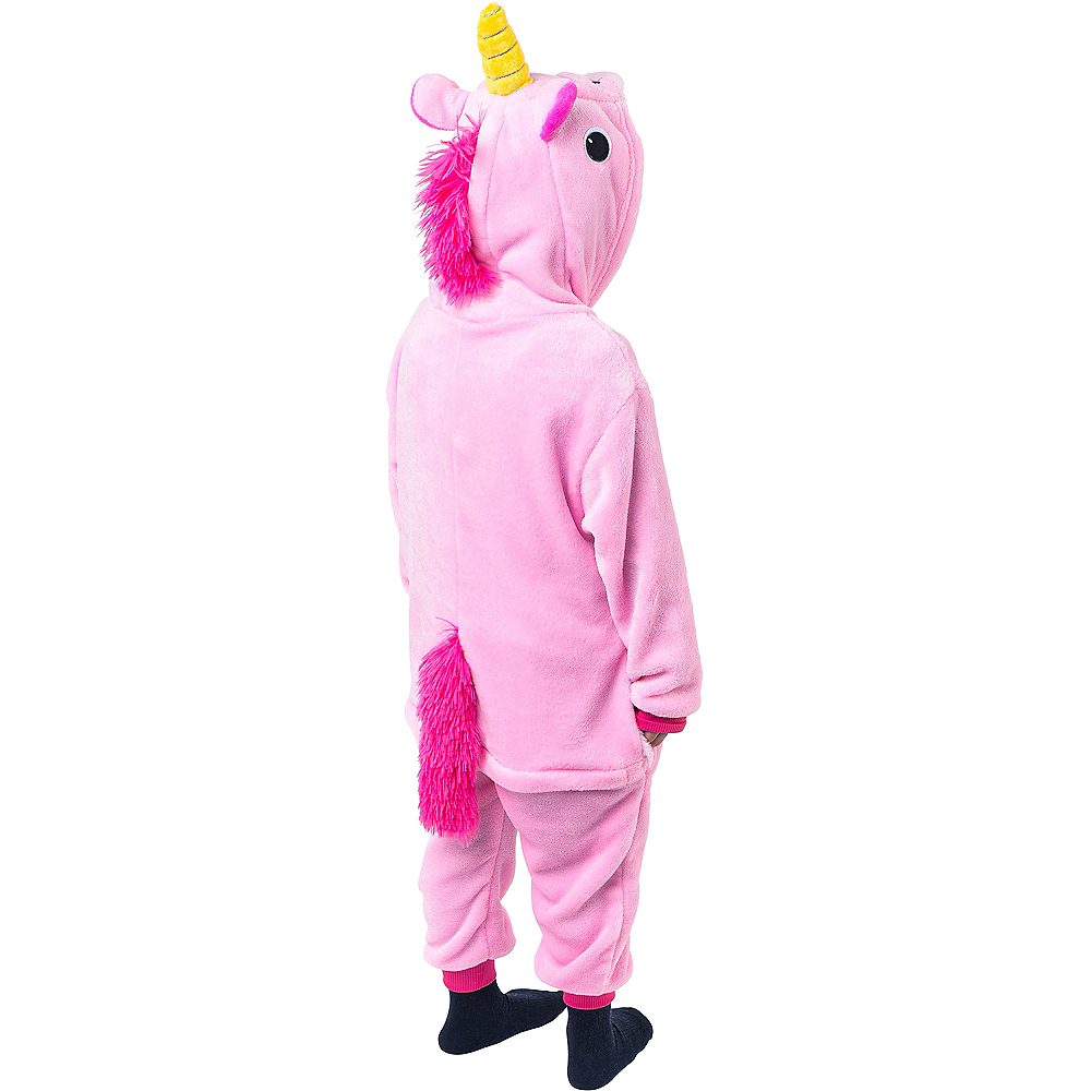Nav Item for Child Zipster Pink Unicorn One Piece Costume Image #4