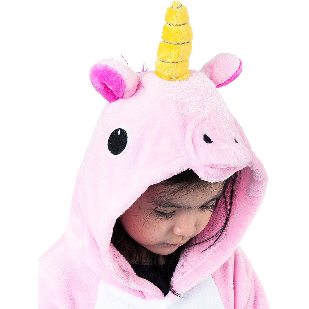 Nav Item for Child Zipster Pink Unicorn One Piece Costume Image #5