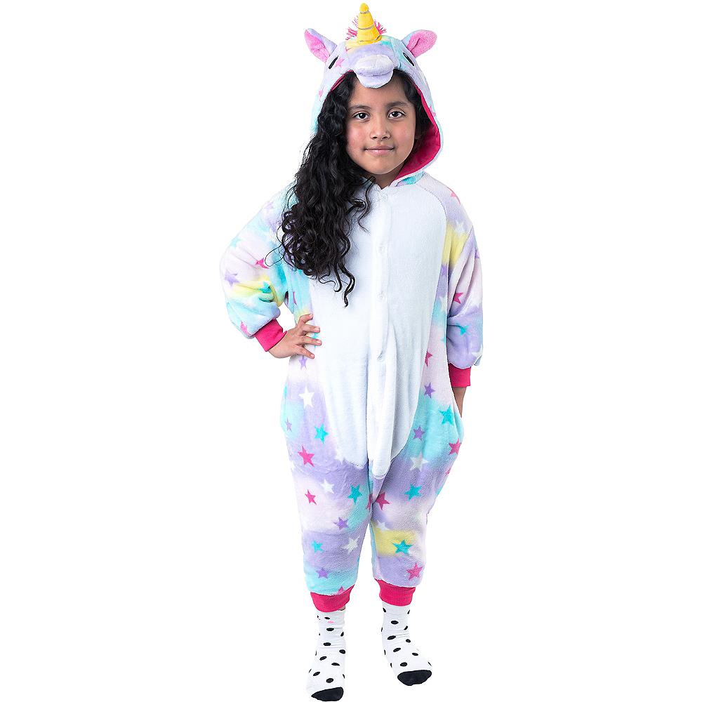 Child Zipster Pastel Unicorn One Piece Costume Image #1