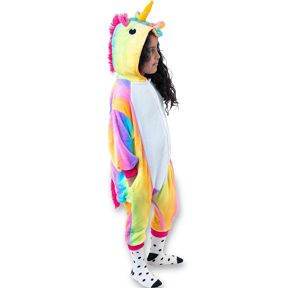 Child Zipster Rainbow Unicorn One Piece Costume Image #1