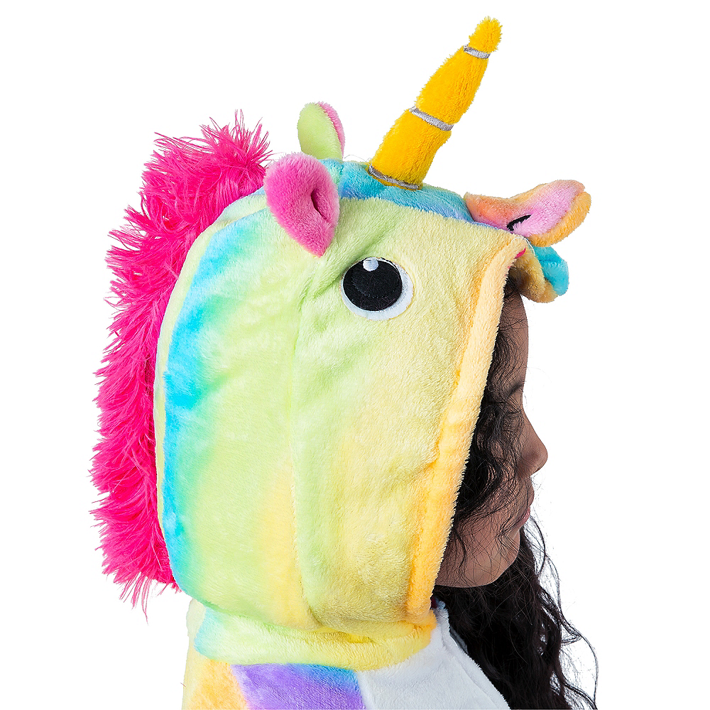 Child Zipster Rainbow Unicorn One Piece Costume Image #2