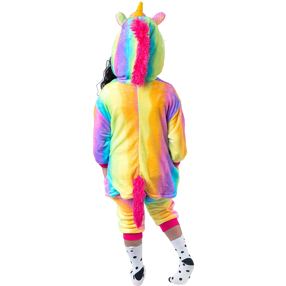 Child Zipster Rainbow Unicorn One Piece Costume Image #3