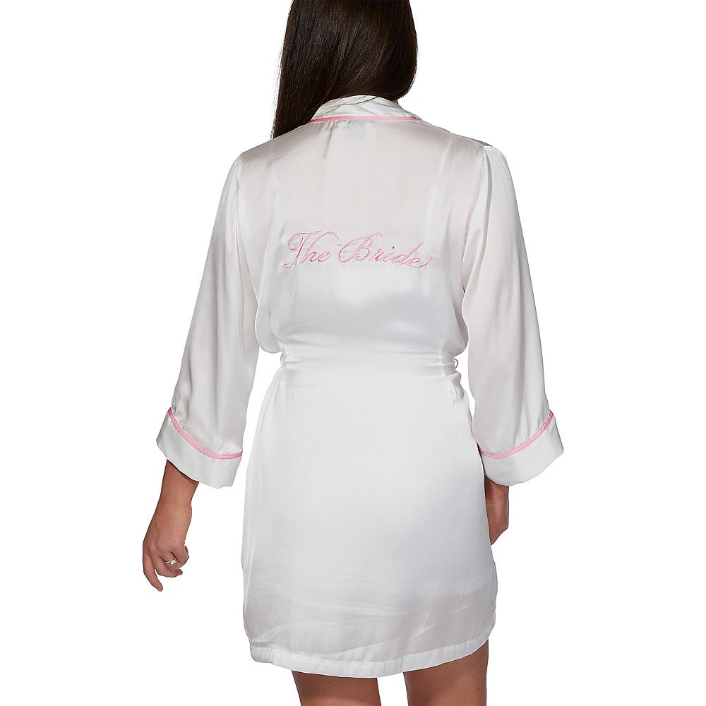 White Pink-Trimmed Bride Robe Image #2