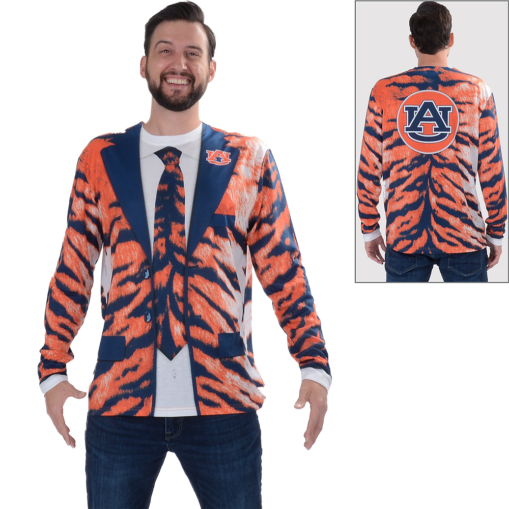 Mens Auburn Tigers Skin Suit Long-Sleeve Shirt Image #1