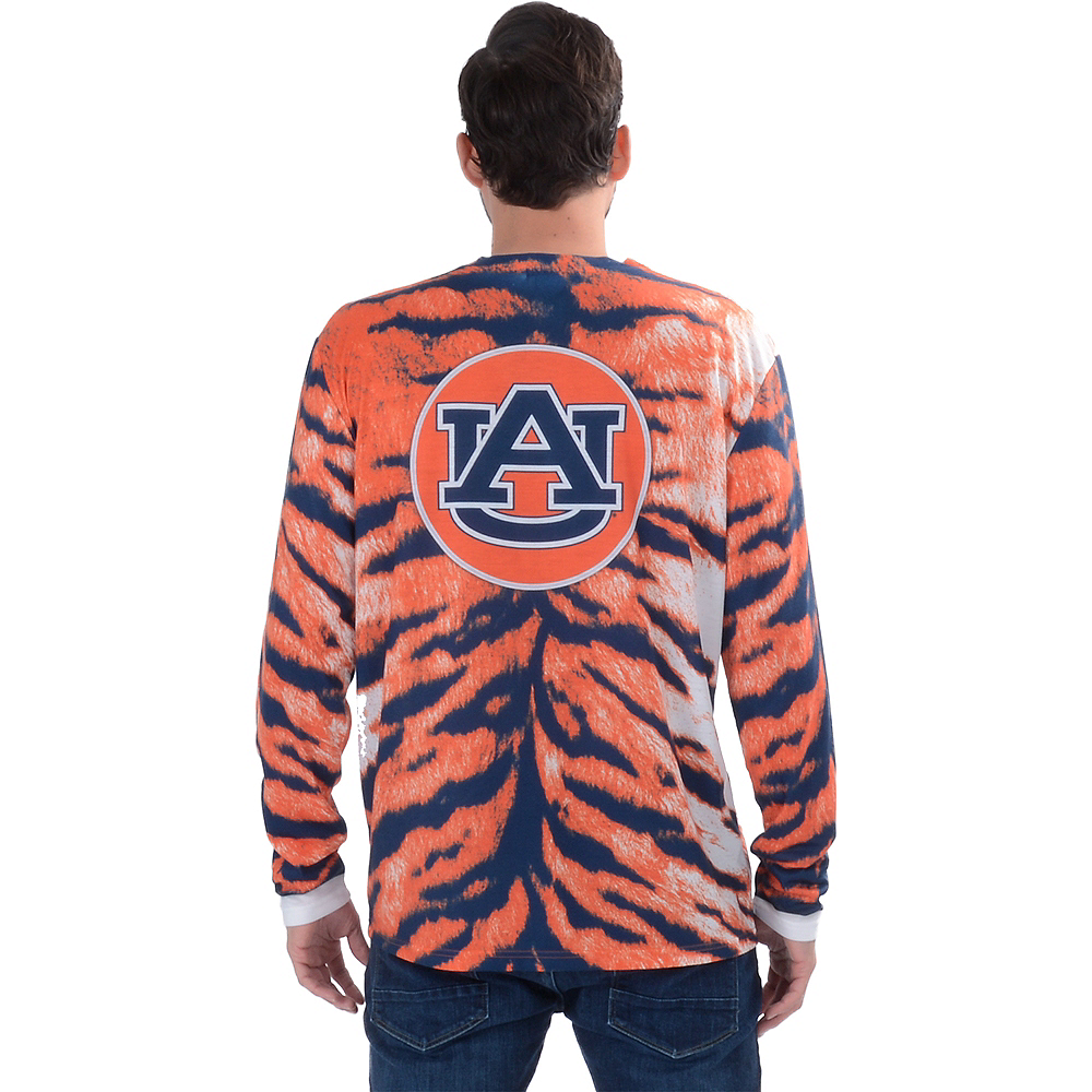 Mens Auburn Tigers Skin Suit Long-Sleeve Shirt Image #2