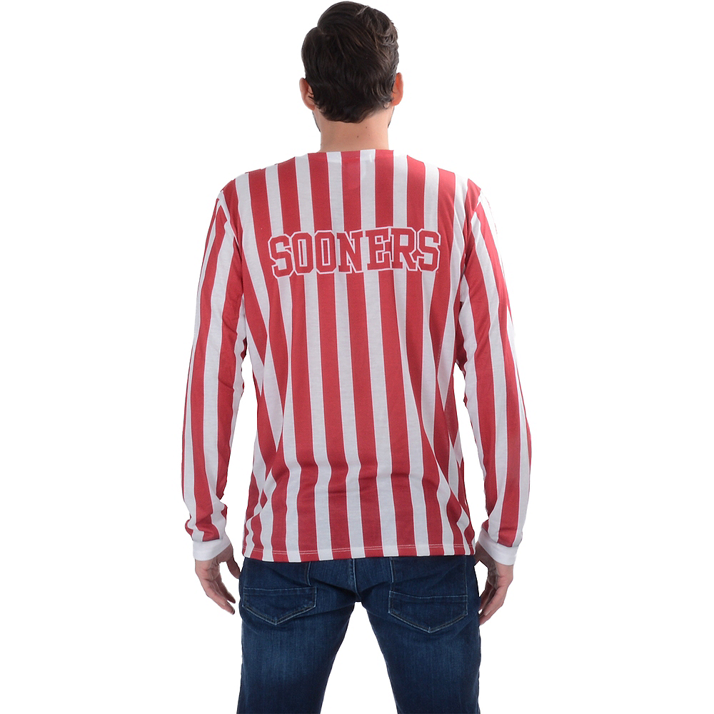 Mens Oklahoma Sooners Striped Suit Long-Sleeve Shirt Image #2