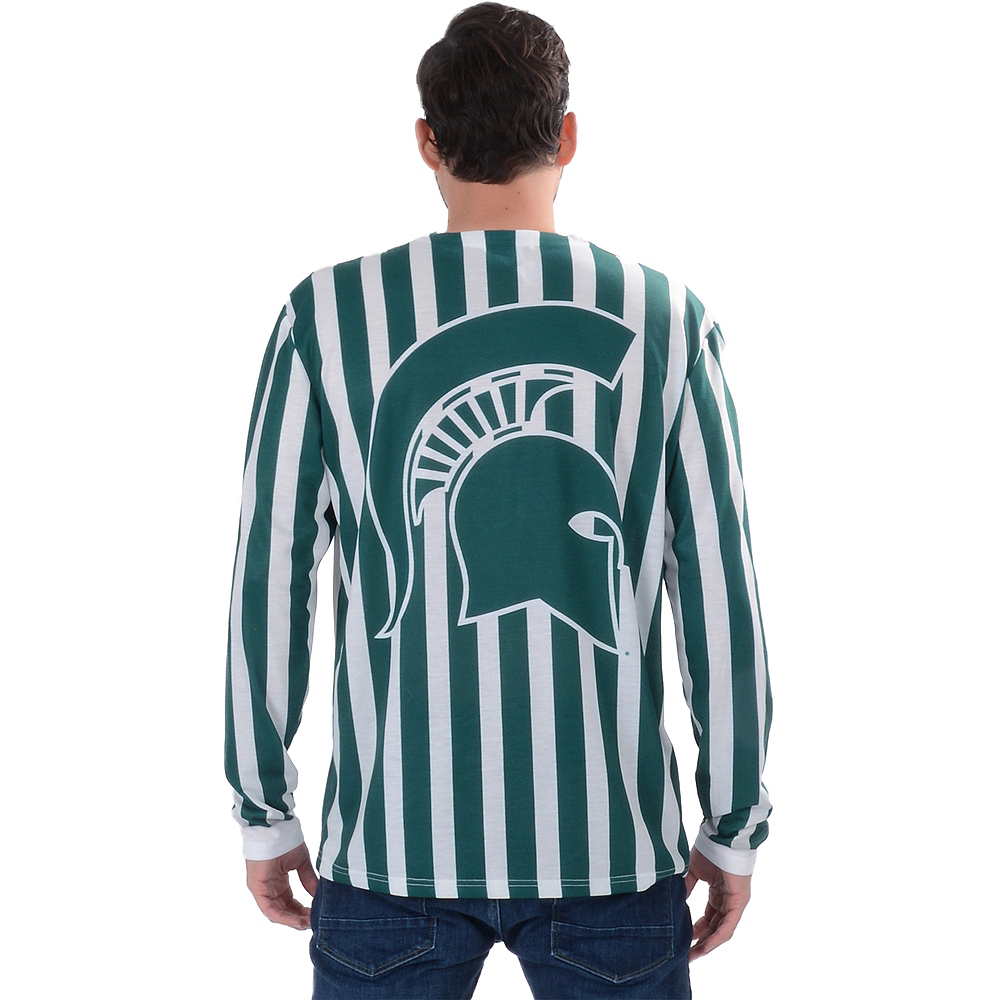 Mens Michigan State Spartans Striped Suit Long-Sleeve Shirt Image #2