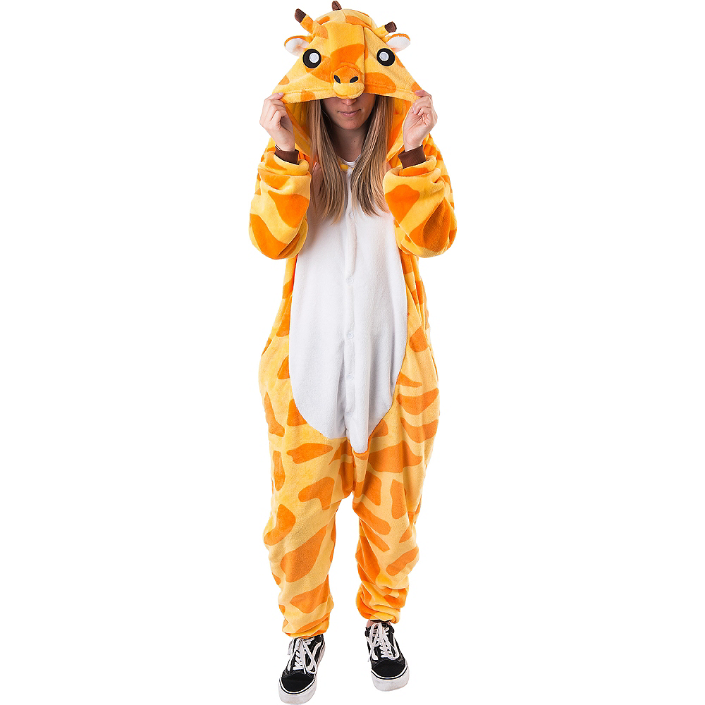 Adult Zipster Giraffe One Piece Costume Image #1