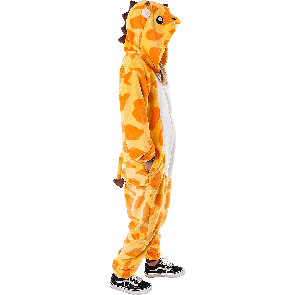 Adult Zipster Giraffe One Piece Costume Image #3