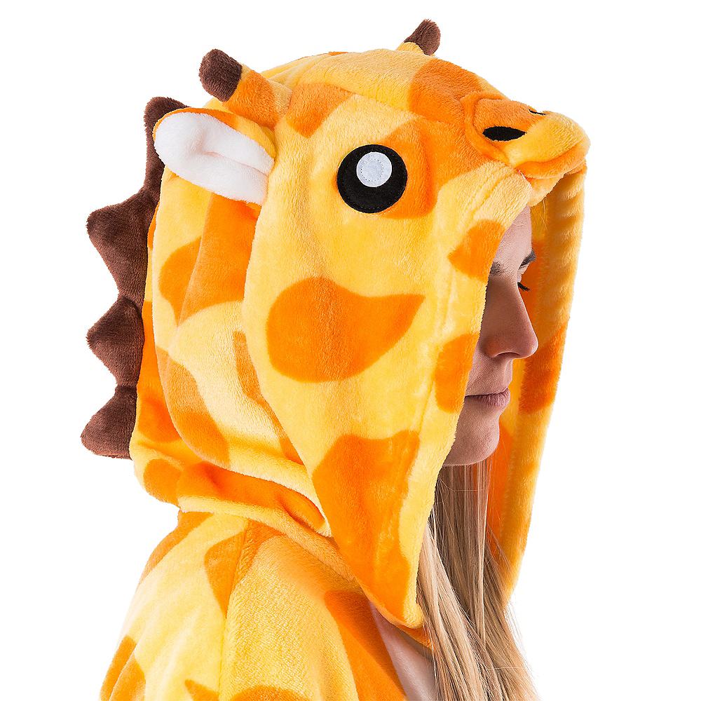 Nav Item for Adult Zipster Giraffe One Piece Costume Image #4