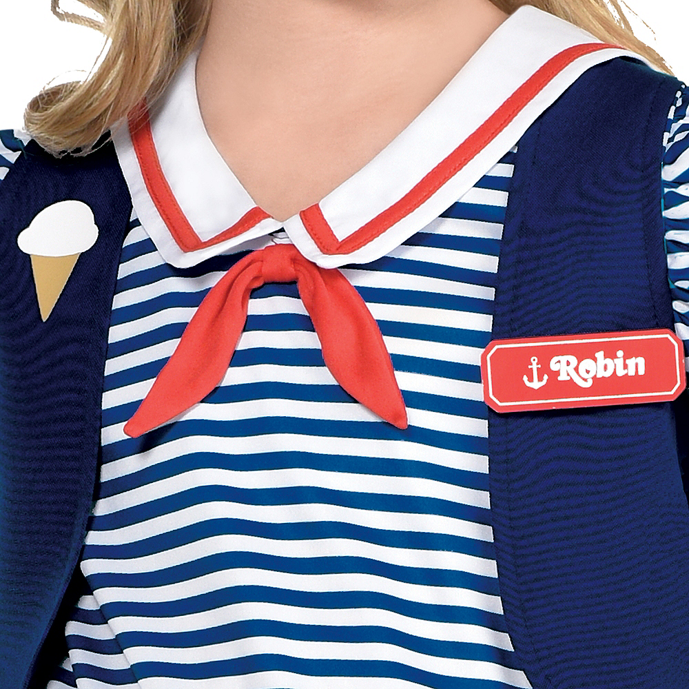Nav Item for Child Robin Scoops Ahoy Costume - Stranger Things Image #3