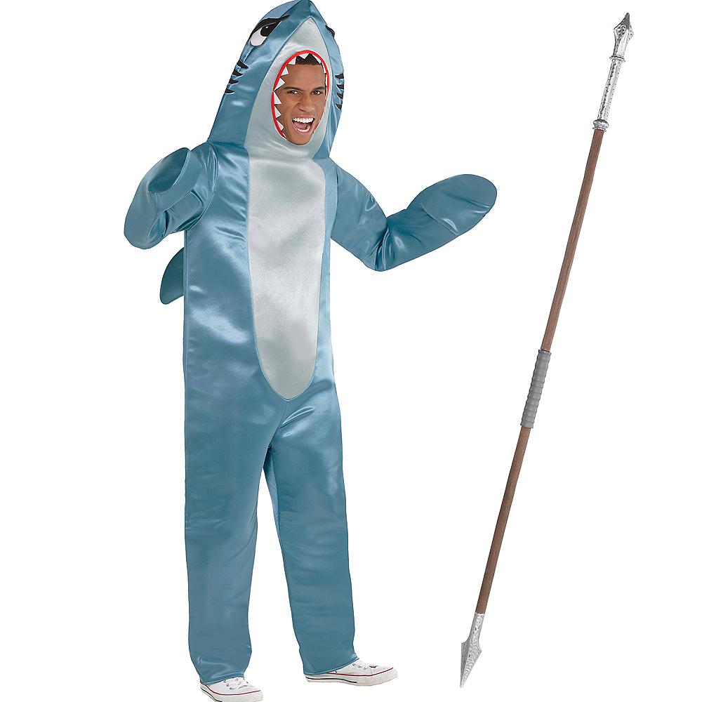 Adult Shark Gamer Skin Costume Kit Image #1