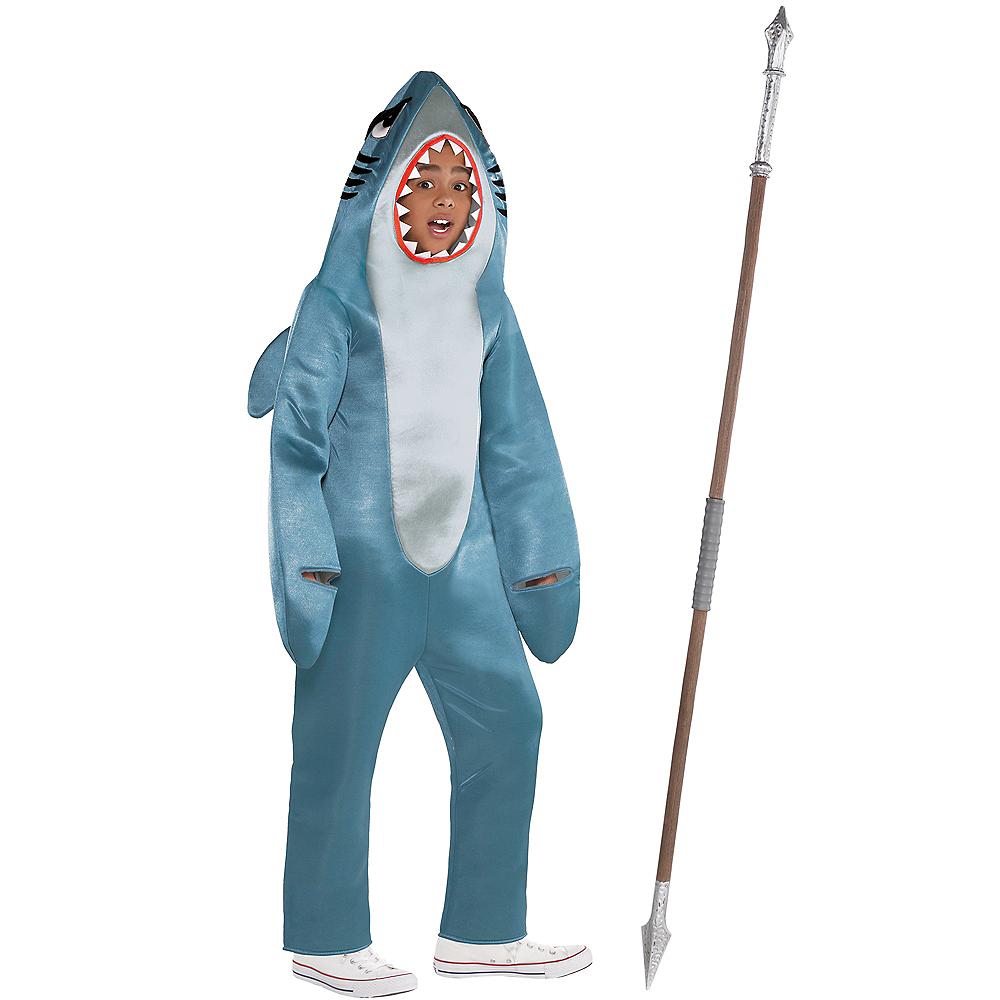 Child Shark Gamer Skin Costume Kit Image #1