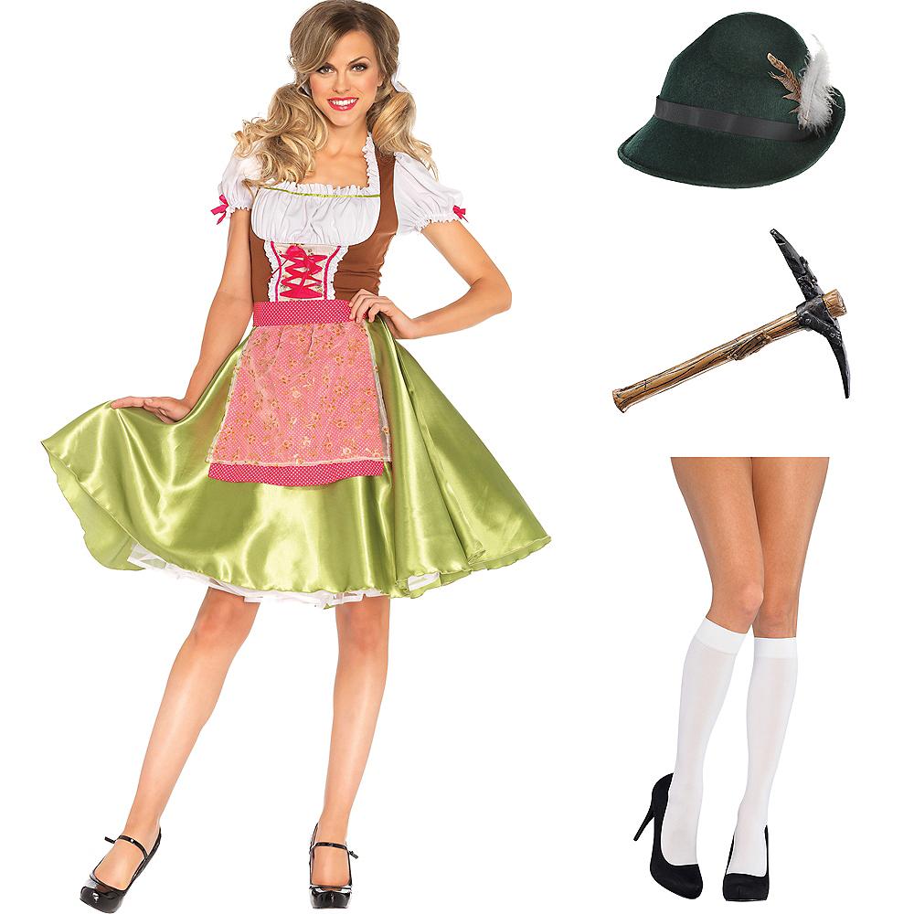 Womens Oktoberfest Gamer Skin Costume Kit Image #1