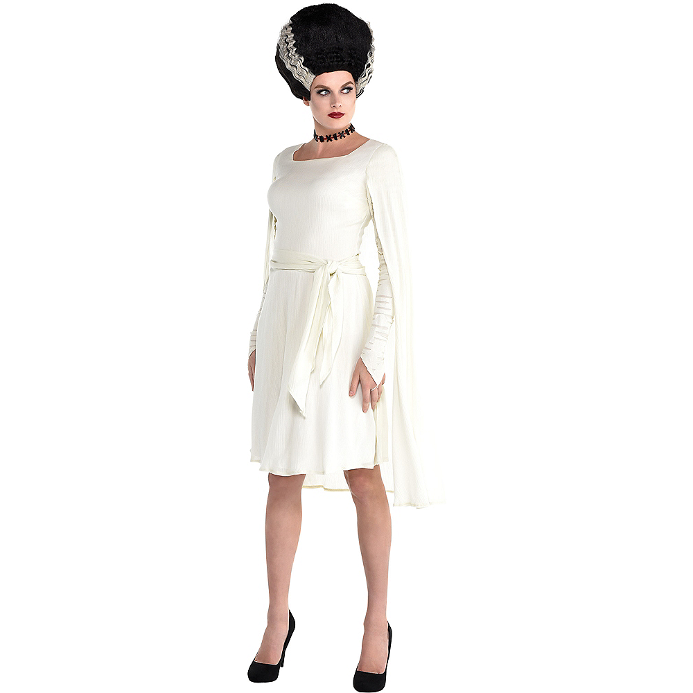 Nav Item for Adult Bride of Frankenstein Dress Image #1