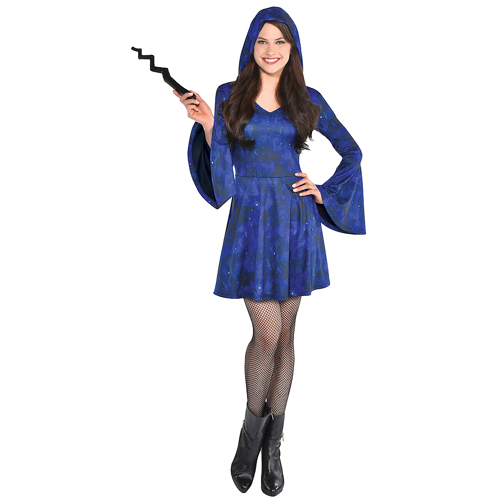 Nav Item for Adult Blue Wizard Dress Image #1