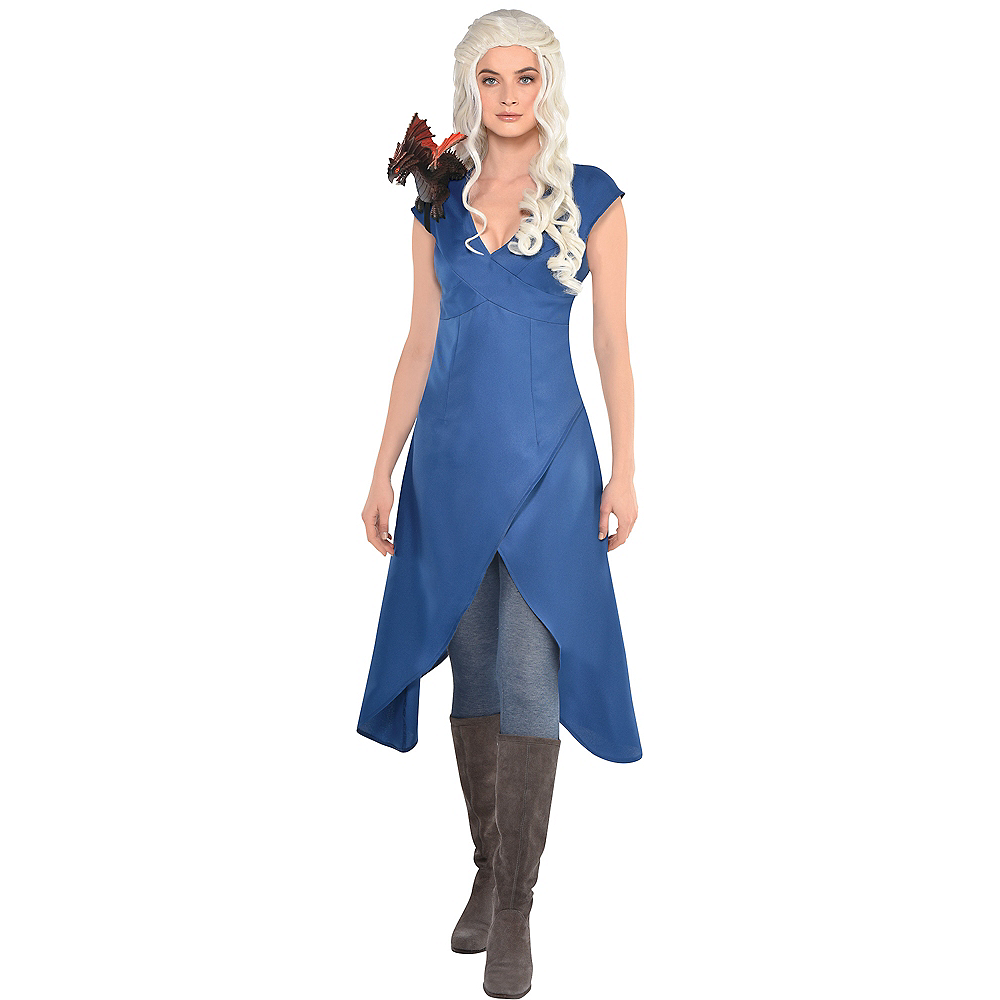 Adult Dragon Queen Slate Blue Dress Image #1