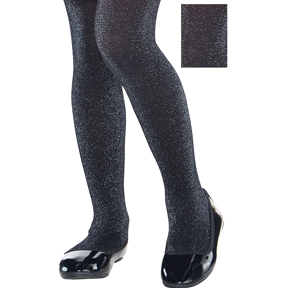 Child Black Sparkle Tights Image #1