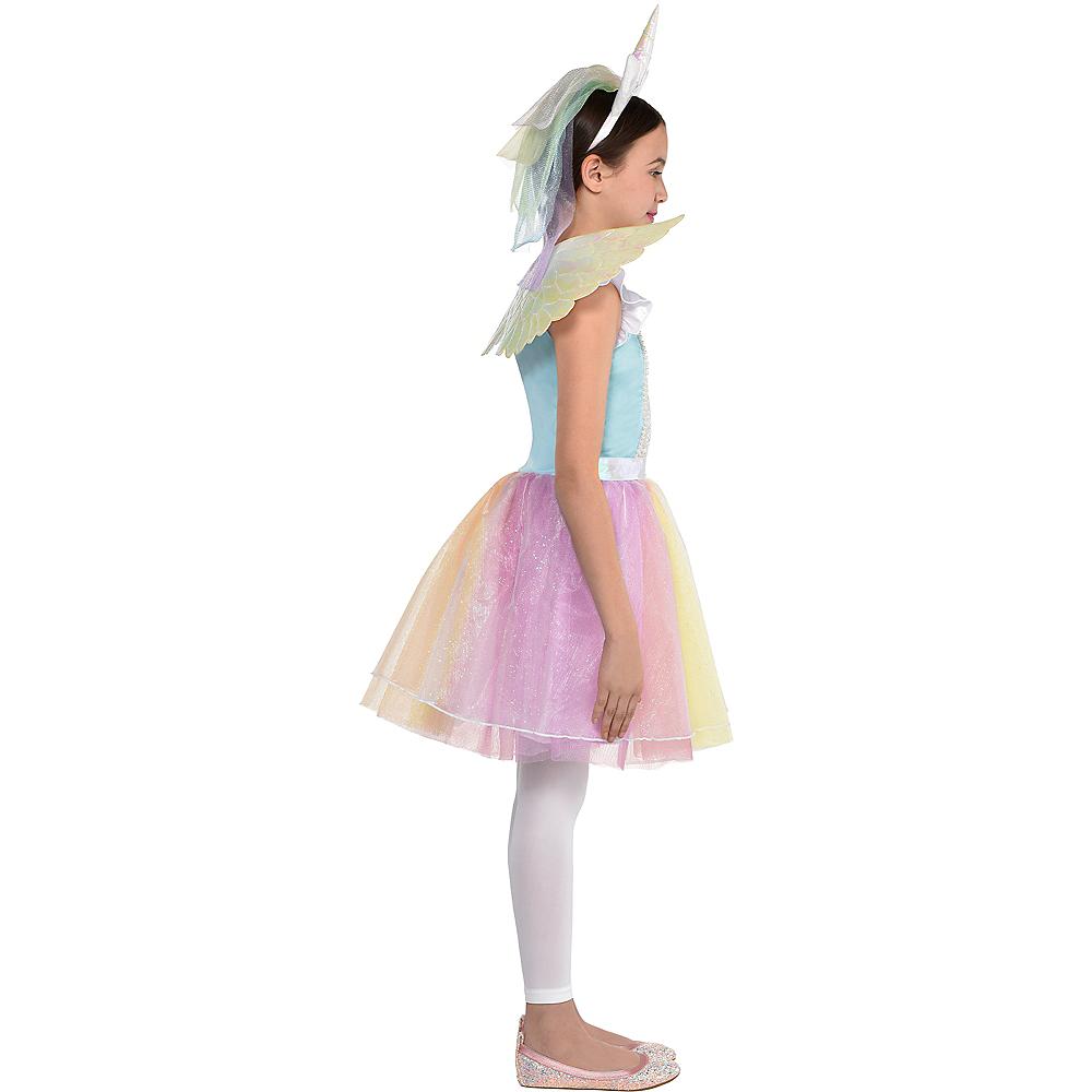 Child Iridescent Rainbow Unicorn Costume Image #2