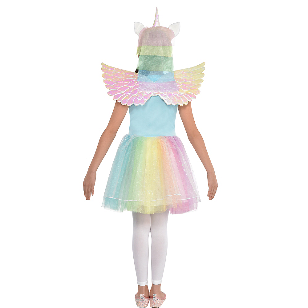 Child Iridescent Rainbow Unicorn Costume Image #3