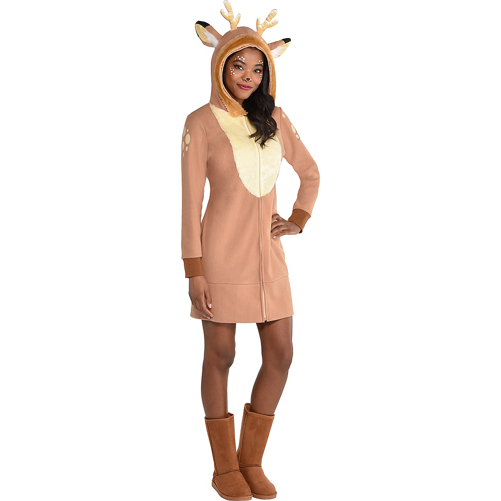 Nav Item for Adult Deer Zipster Costume Image #1