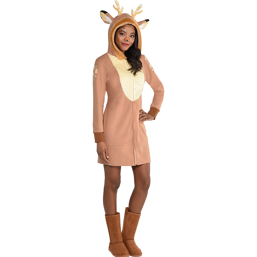 Nav Item for Adult Deer Zipster Costume Image #2