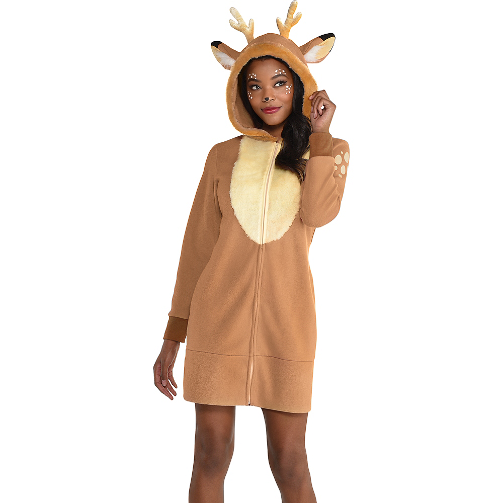 Adult Deer Zipster Costume Image #3
