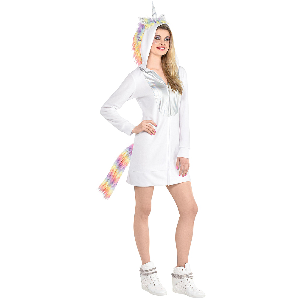 Adult Unicorn Zipster Costume Image #1