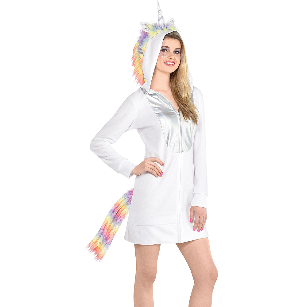 Adult Unicorn Zipster Costume Image #4