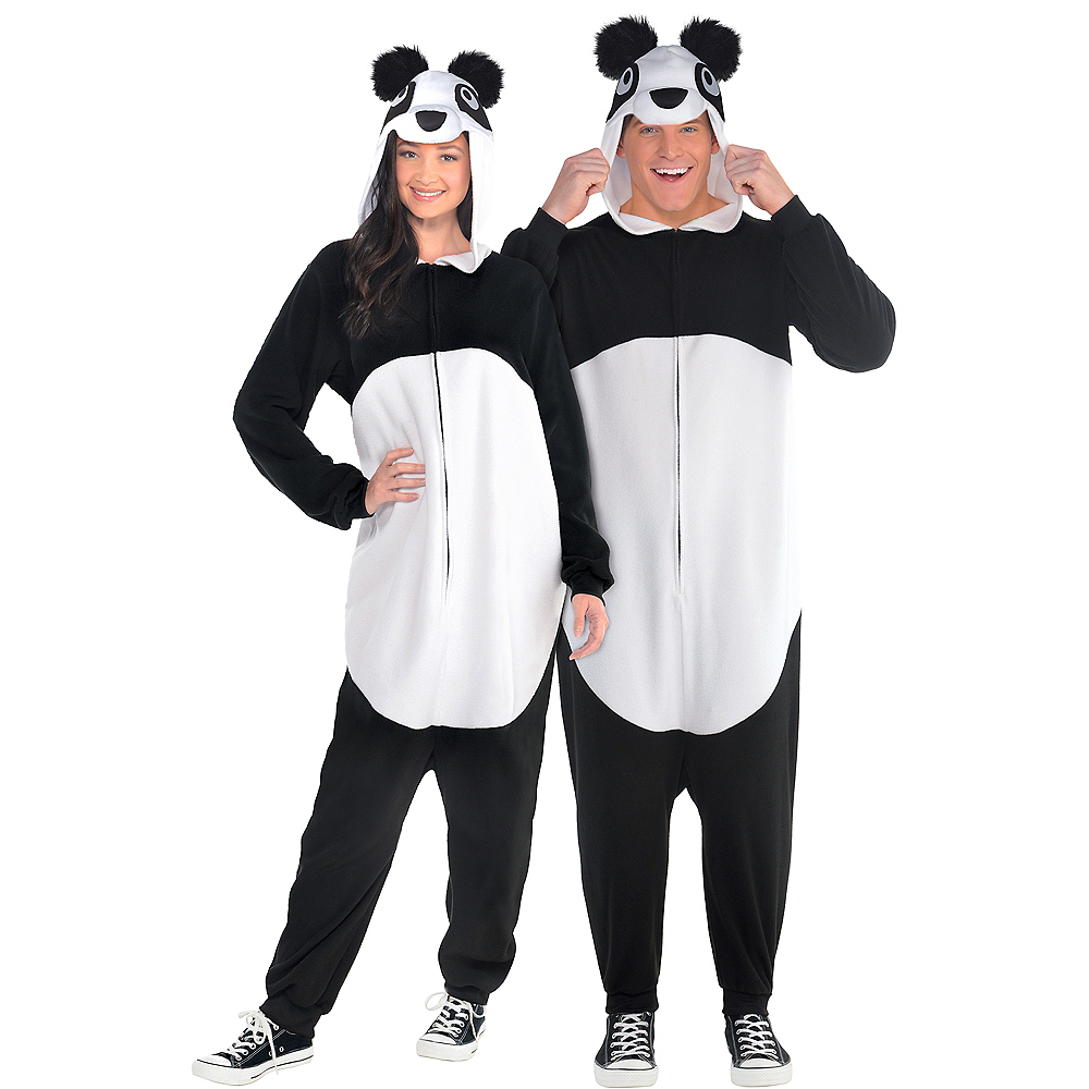 Adult Zipster Panda One Piece Costume Image #1
