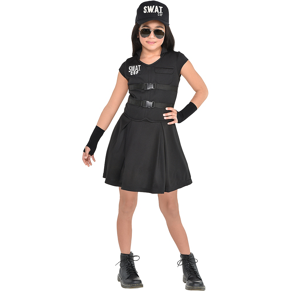 Child S.W.A.T. Cop Costume Image #1