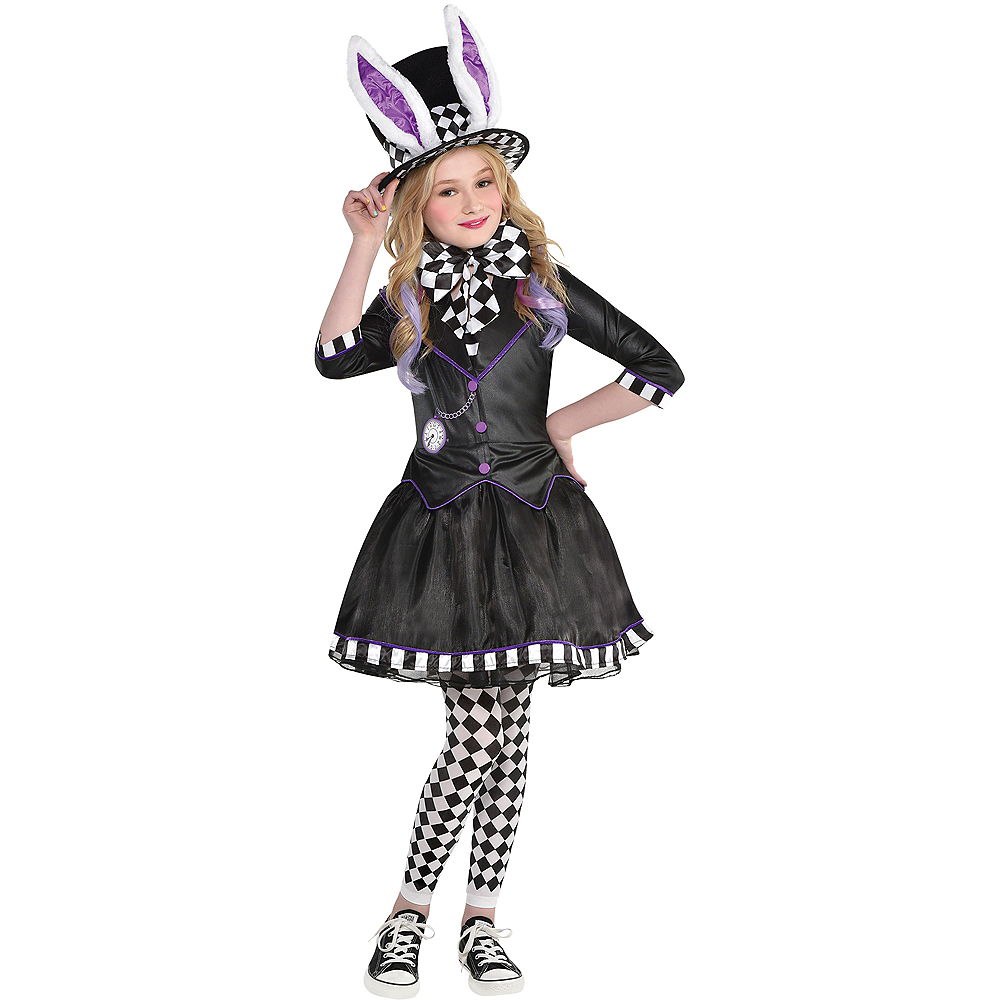 Child Dark Mad Hatter Costume Image #1
