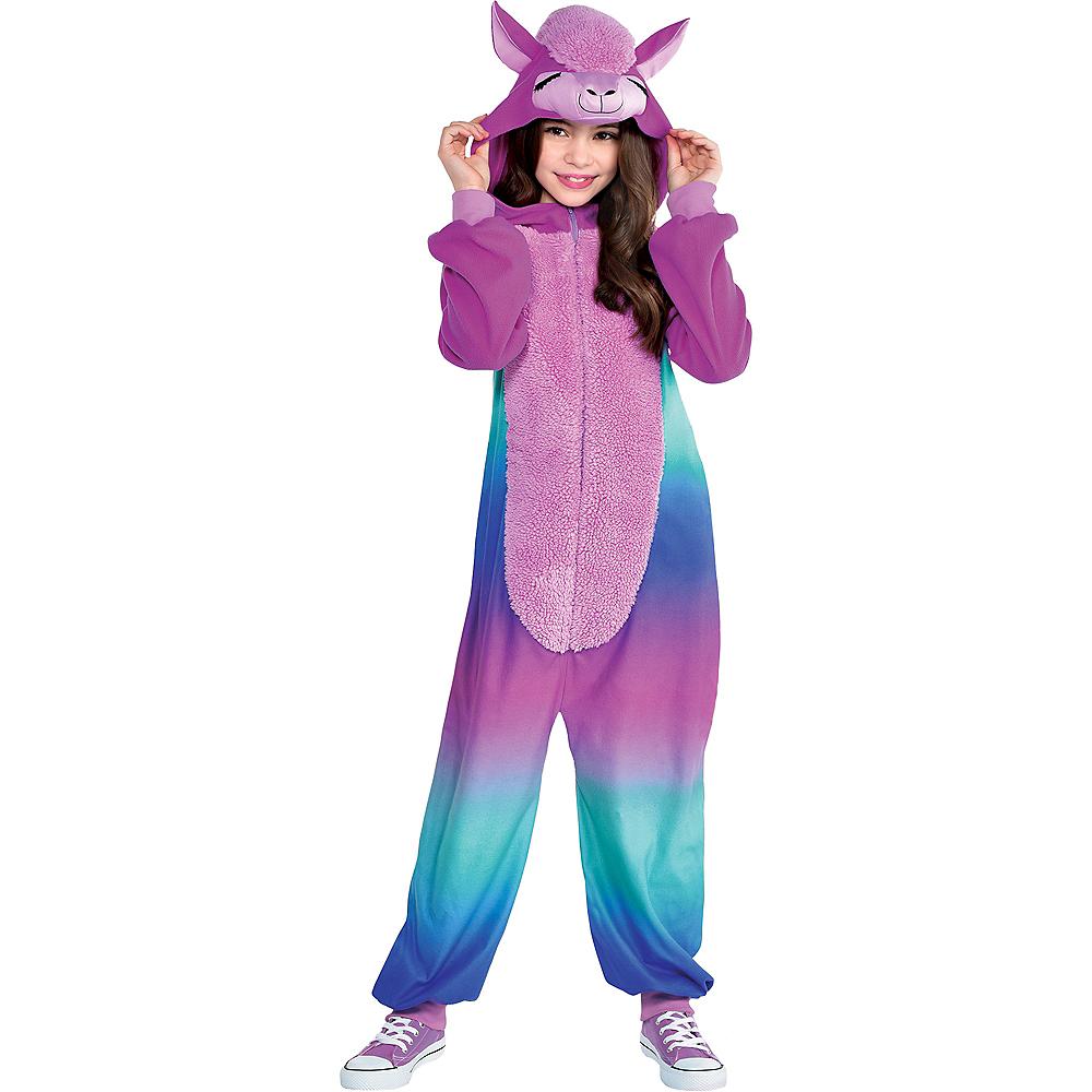 Child Zipster Purple Llama One-Piece Costume Image #1