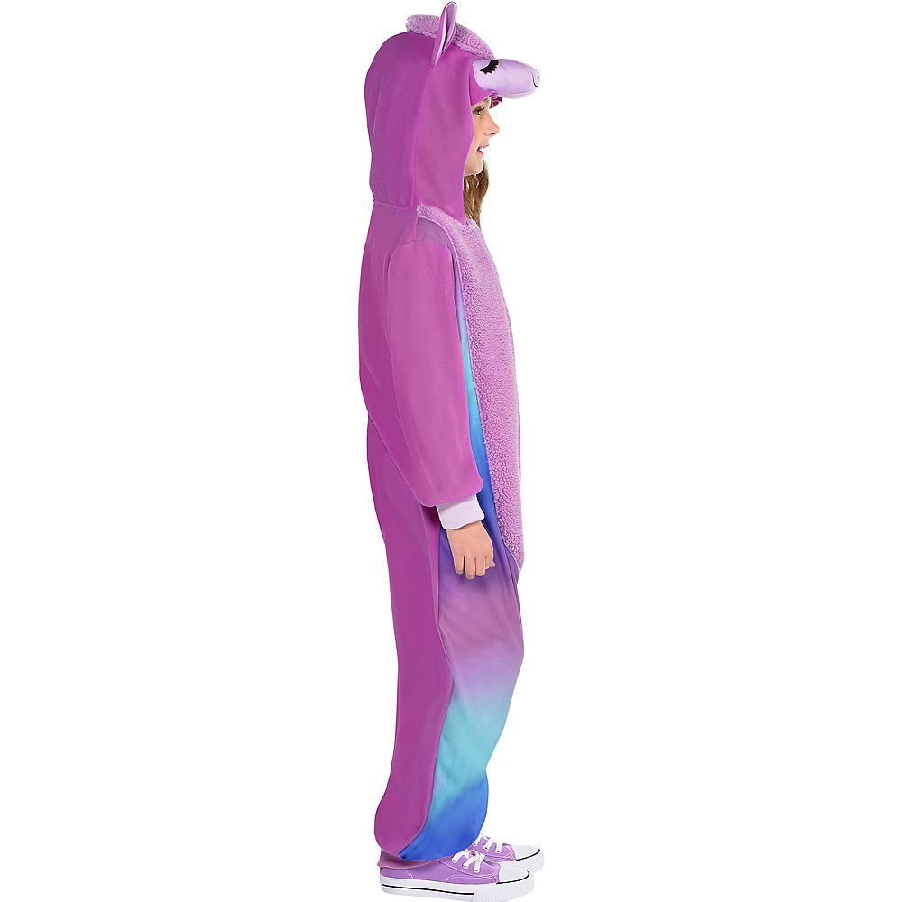 Child Zipster Purple Llama One-Piece Costume Image #2