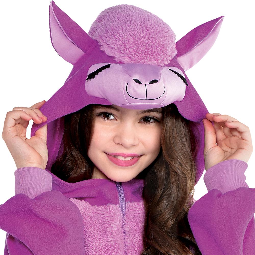 Child Zipster Purple Llama One-Piece Costume Image #3
