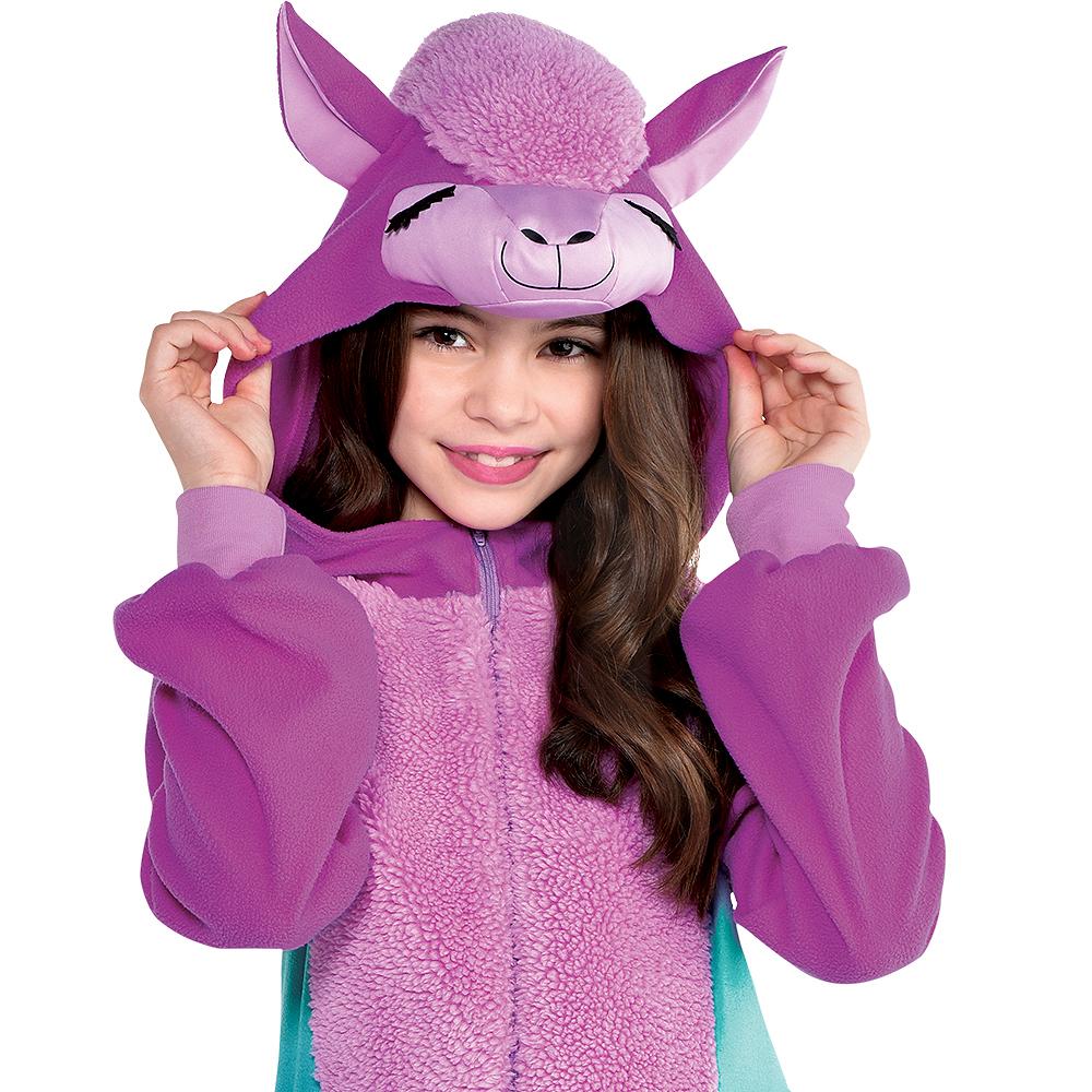 Child Zipster Purple Llama One-Piece Costume Image #4