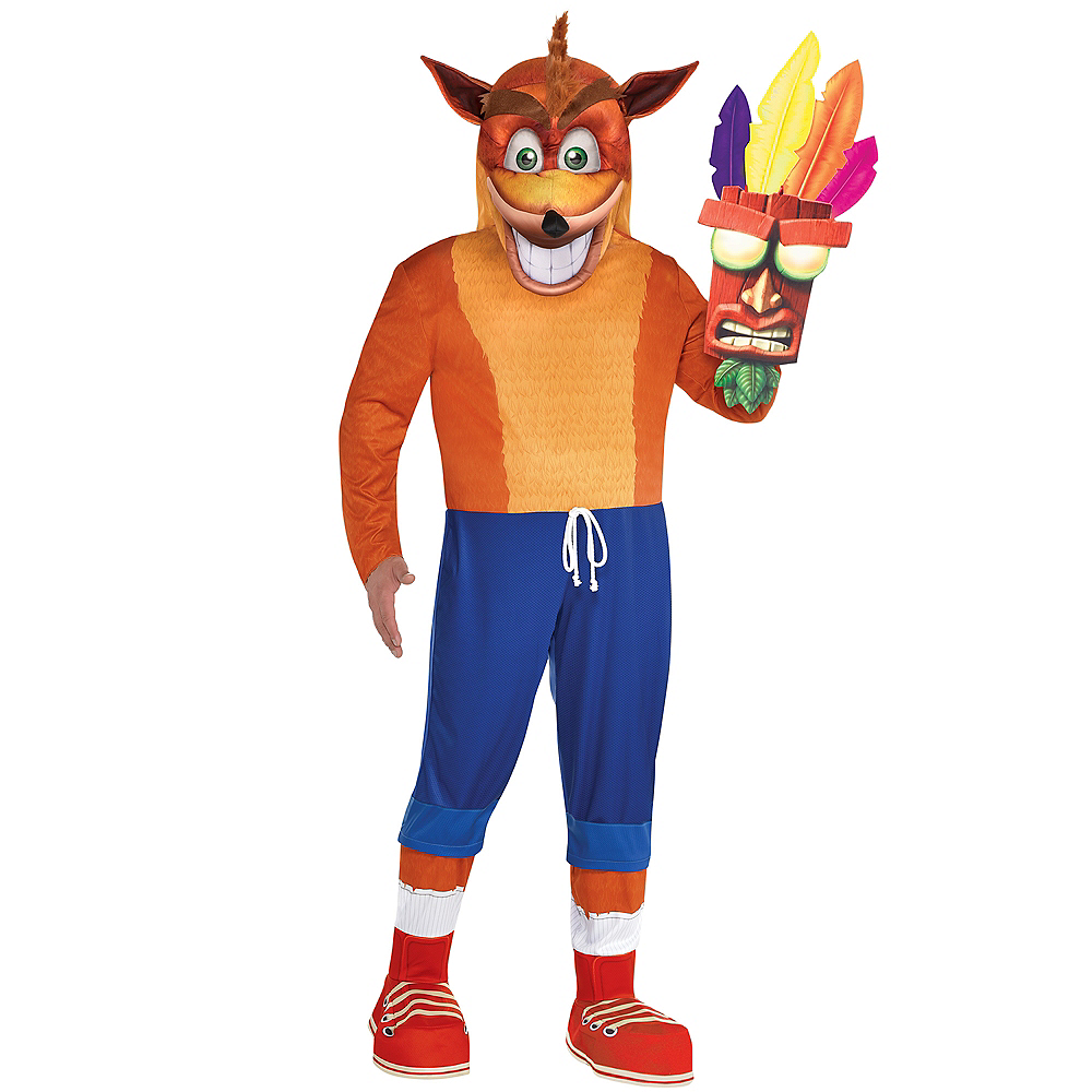 Adult Crash Bandicoot Costume Plus Size Image #1