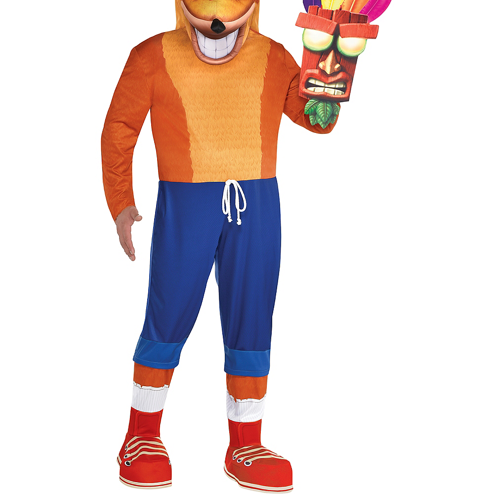 Adult Crash Bandicoot Costume Plus Size Image #5