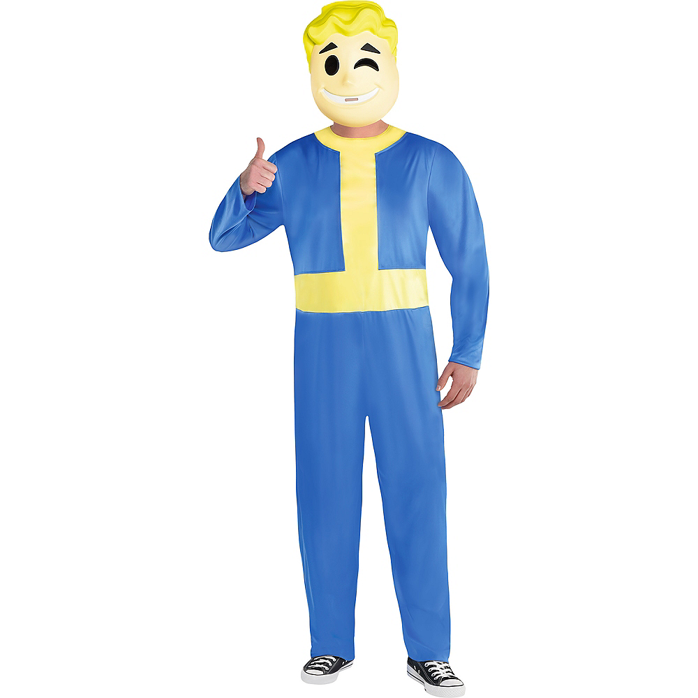 Adult Vault Boy Costume Plus Size - Fallout Shelter Image #1